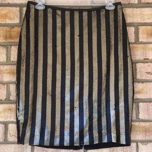 Black & Gold Sequin skirt, size 14